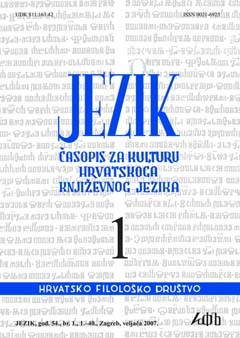 logo Jezik: Periodical for the Culture of the Standard Croatian Language