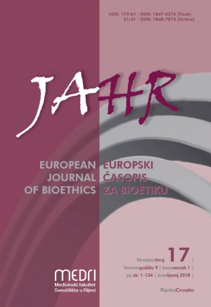 logo JAHR - European Journal of Bioethics