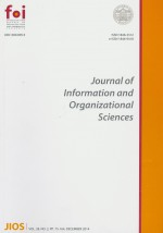 Journal of Information and Organizational Sciences,Vol. 38 No. 2