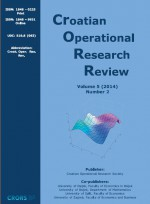 Croatian Operational Research Review,Vol.5 No.2
