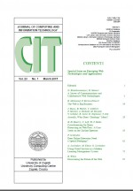 Journal of computing and information technology,Vol. 23 No. 1