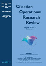 Croatian Operational Research Review,Vol.6 No.1
