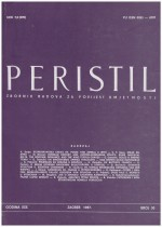 Peristil : Scholarly Journal of Art History,Vol. 30 No. 1