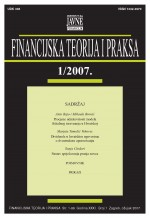 Financijska teorija i praksa,Vol.31 No.1
