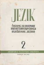 Jezik : Periodical for the Culture of the Standard Croatian Language,Vol. 9 No. 2