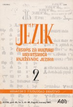 Jezik : Periodical for the Culture of the Standard Croatian Language,Vol. 48 No. 2