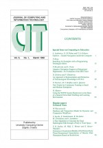 Journal of computing and information technology,Vol.6 No.1