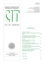 Journal of computing and information technology,Vol.5 No.4