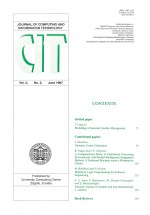 Journal of computing and information technology,Vol.5 No.2