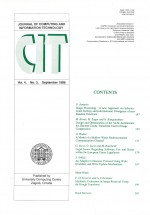 Journal of computing and information technology,Vol. 4 No. 3