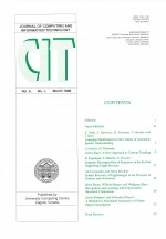Journal of computing and information technology,Vol. 4 No. 1