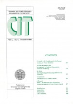 Journal of computing and information technology,Vol. 3 No. 4