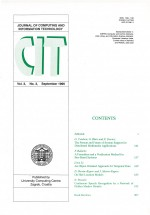 Journal of computing and information technology,Vol. 3 No. 3