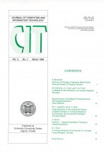 Journal of computing and information technology,Vol.3 No.1