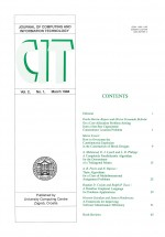 Journal of computing and information technology,Vol.2 No.1