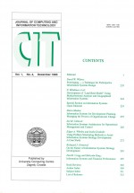 Journal of computing and information technology,Vol. 1 No. 4