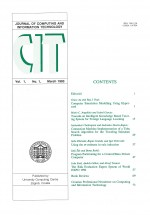 Journal of computing and information technology,Vol.1 No.1