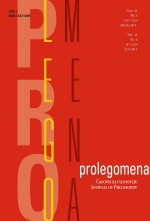 Prolegomena : Journal of Philosophy,Vol. 14 No. 2