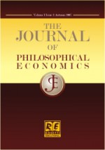 The journal of philosophical economics : Reflections on economic and social issues,Vol.IX No.1