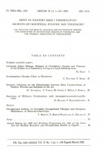 Archives of Industrial Hygiene and Toxicology,Vol. 32 No. 1
