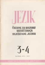 Jezik : Periodical for the Culture of the Standard Croatian Language,Vol. 24 No. 3-4