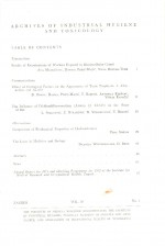 Archives of Industrial Hygiene and Toxicology,Vol. 23 No. 1
