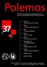Polemos : Journal of Interdisciplinary Research on War and Peace,Vol. XIX No. 37
