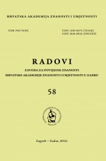 Radovi/Institute for Historical Sciences of the Croatian Academy of Sciences and Arts in Zadar : Institute for Historical Sciences of the Croatian Academy of Sciences and Arts in Zadar,No. 58