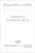 Croatica Chemica Acta,Vol. 62 No. 1