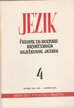 Jezik : Periodical for the Culture of the Standard Croatian Language,Vol. 26 No. 3