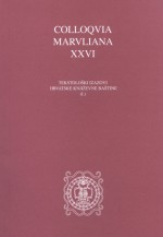 Colloquia Maruliana ...,Vol. 26 No. 26