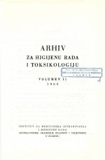 Archives of Industrial Hygiene and Toxicology,Vol. 11 No. 1