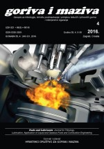 Fuels and lubricants : journal for tribology, lubrication, application of liquid and gaseous fuels and combustion engineering,Vol. 55 No. 4