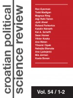 Croatian Political Science Review,Vol. 54 No. 1-2