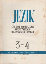 Jezik : Periodical for the Culture of the Standard Croatian Language,Vol. 8 No. 3-4