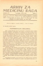 Archives of Industrial Hygiene and Toxicology,Vol. 2 No. 2