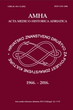 Acta medico-historica Adriatica : AMHA,Vol. 15 No. Supplement 1