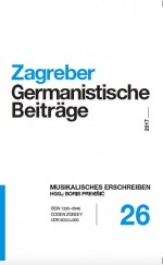 Zagreb Contributions to German Studies,Vol. 26 No. 1