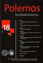 Polemos : Journal of Interdisciplinary Research on War and Peace,Vol. IX No. 18