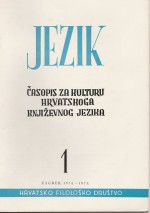 Jezik : Periodical for the Culture of the Standard Croatian Language,Vol. 22 No. 1