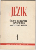 Jezik : Periodical for the Culture of the Standard Croatian Language,Vol. 21 No. 1