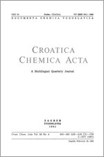 Croatica Chemica Acta,Vol. 54 No. 4