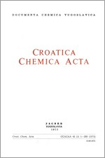 Croatica Chemica Acta,Vol. 45 No. 1