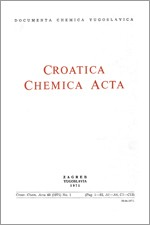 Croatica Chemica Acta,Vol. 43 No. 1