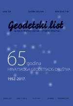 Geodetski list,Vol. 71 (94) No. 4