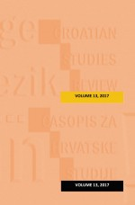 Croatian Studies Review,Vol.13 No.1