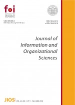 Journal of Information and Organizational Sciences,Vol. 42 No. 1