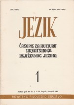 Jezik : Periodical for the Culture of the Standard Croatian Language,Vol. 29 No. 1