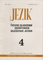 Jezik : Periodical for the Culture of the Standard Croatian Language,Vol. 29 No. 4