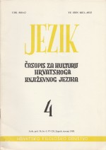 Jezik : Periodical for the Culture of the Standard Croatian Language,Vol.36 No.4